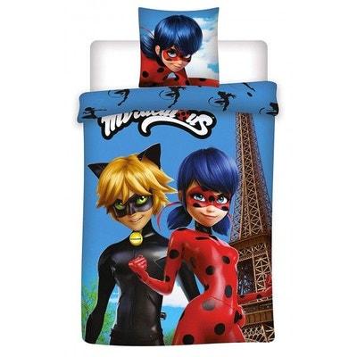 98d2306240914 Miraculous Ladybug Blue - Parure de lit Enfant - Housse de Couette  Miraculous Ladybug Blue -