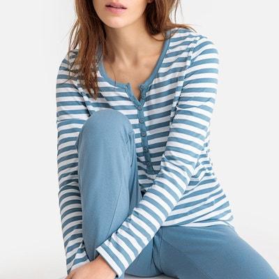 9779fa89fbc41 Pyjama rayé pur coton Pyjama rayé pur coton LA REDOUTE COLLECTIONS