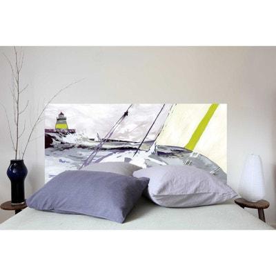 Tête de lit en tissu Marine, fixation murale MADEMOISELLE TISS 500eb6fb0af4