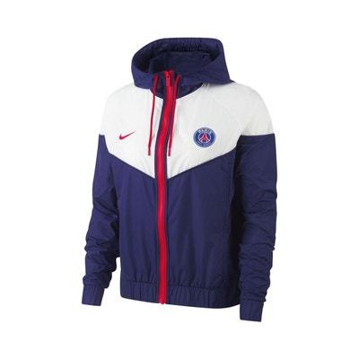 Veste à capuche PSG Windrunner Bleu Blanc Femme NIKE 2743b46b68d
