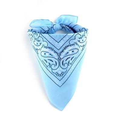e1db883d7c0 Foulard bandana bleu layette ALLEE DU FOULARD