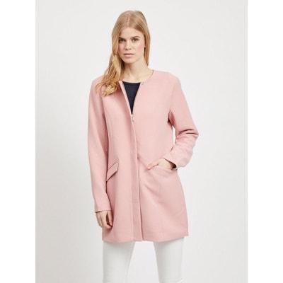 Manteau long femme rose | La Redoute