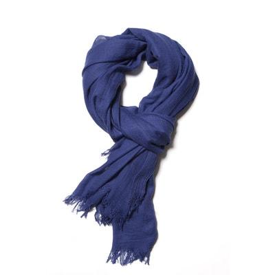Écharpe bleu homme en solde   La Redoute 4fc97258493