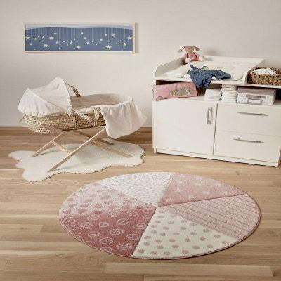 Tapis rose chambre bebe fille en solde | La Redoute