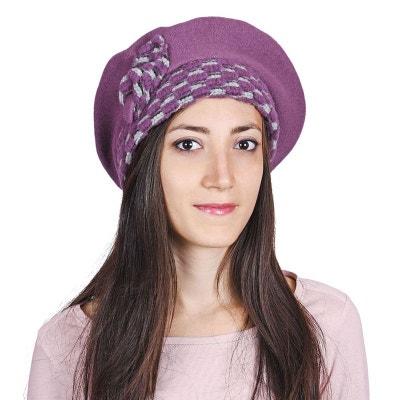 Béret Femme Aria Violet - Made in UE ALLEE DU FOULARD 6b8f560a934