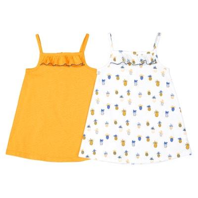 af0ada135 Lote de 2 vestidos con tirantes finos, 1 mes - 3 años Lote de 2