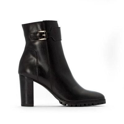 Boots cuir, semelle crantée Boots cuir, semelle crantée LA REDOUTE COLLECTIONS