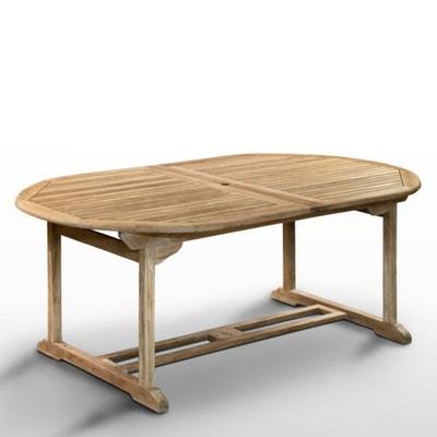 Tafel in teak, 8 - 14 personen, 2 verlengstukken Tafel in teak, 8 - 14 personen, 2 verlengstukken LA REDOUTE INTERIEURS