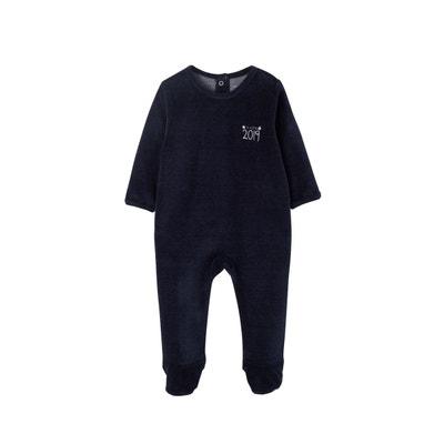 3ccfa6275c354 Dors-bien bébé en velours chiné pressionné dos VERTBAUDET
