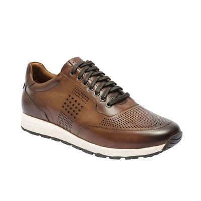38d25af7a4d Basket cuir marron homme
