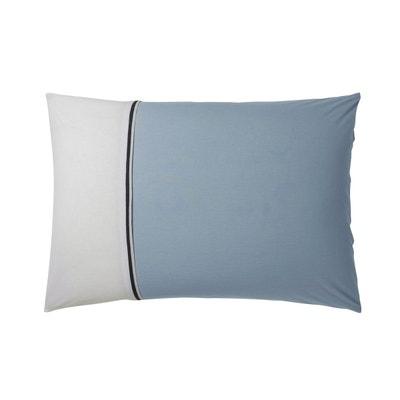 taies d'oreiller turquoise imprimées