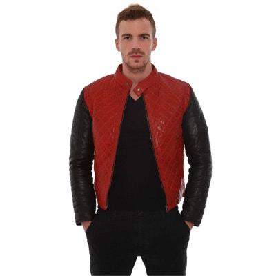 Blouson, veste en cuir homme en solde   La Redoute 75ad3f46140