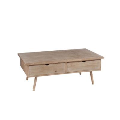 0a3bf613b2576 TABLE BASSE 4 TIROIRS BOIS NATUREL - SLIVAN TABLE BASSE 4 TIROIRS BOIS  NATUREL - SLIVAN. HELLIN ...