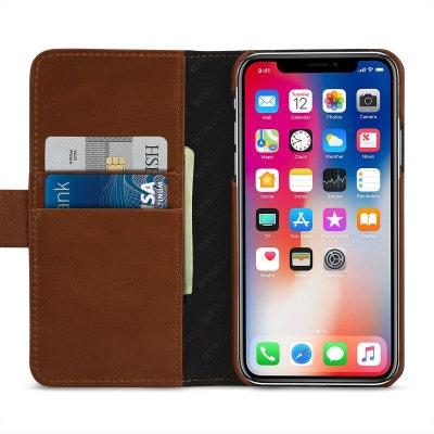 Etui iPhone X Porte-cartes cognac en cuir véritable - Stilgut STILGUT af856ac9c66