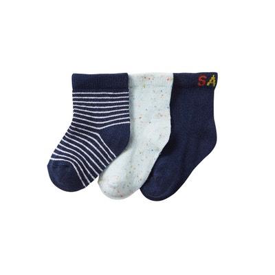 a5673ca3b5579 Lot de 3 paires de mi-chaussettes bébé garçon fantaisie. Lot de 3 paires