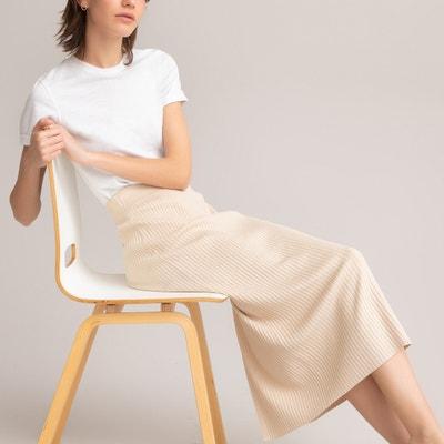 LAEMILIA Jupe en Jean Femme Courte Et/é Crayon Bouton Casual Taille Haute Slim Jupon Tutu Robe Mini Vintage Fille