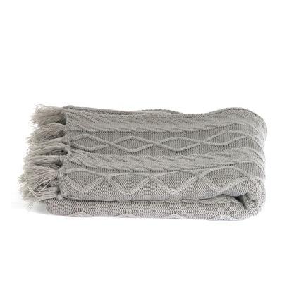 Plaid tricot gris 120 X 150 cm Plaid tricot gris 120 X 150 cm DECORATIE 9c0959404ac