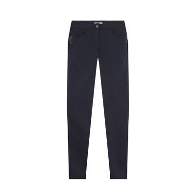 Pantalon slim coton stretch bleu DEVERNOIS e444932b876