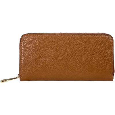 Soleil en cuir portefeuille cuir porte-monnaie Portefeuille Trave Moka Marron