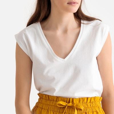 9f5bc530c5 Camiseta de algodón orgánico con cuello de pico Camiseta de algodón  orgánico con cuello de pico
