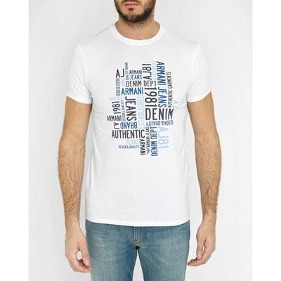 T-Shirt Col Rond Logo Blanc AJ T-Shirt Col Rond Logo Blanc AJ. ARMANI JEANS fbdd52a1084f