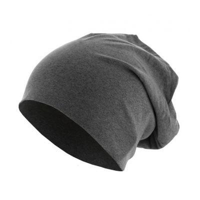 cd62fcaa13e53 Bonnet Jersey Noir chiné MASTERDIS Melange Beanie Stretch URBAN CLASSICS