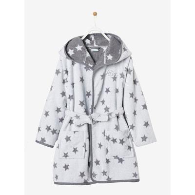 d987a5ee32ece Peignoir de bain enfant jacquard étoiles, à capuche et Peignoir de bain  enfant jacquard étoiles. Soldes. VERTBAUDET