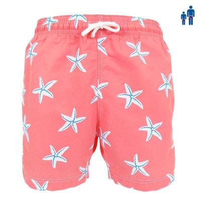 d95341f3875e Maillot Short de bain homme Jules étoile de mer - bleu ou rose LES LOULOUS  DE