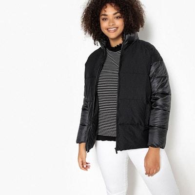 Manteau femme bi matiere noir | La Redoute
