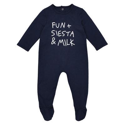 2c22b7ab8f59ca Cotton Slogan Print Sleepsuit