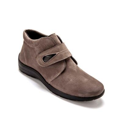 bottines femme cuir semelle amovible pied large