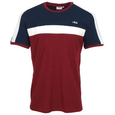 T shirt naude tee blanc, bleu marine, rouge Fila | La Redoute