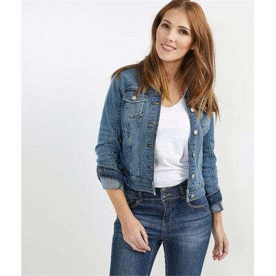Veste en jean femme mi long