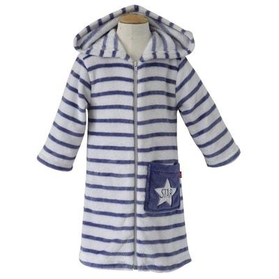 d7d973496215a Robe de chambre rayée à capuche Robe de chambre rayée à capuche SUCRE D'ORGE
