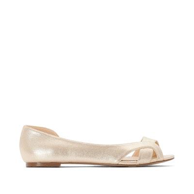 368a54f6252 Wide Fit Open Toe Ballet Pumps CASTALUNA PLUS SIZE