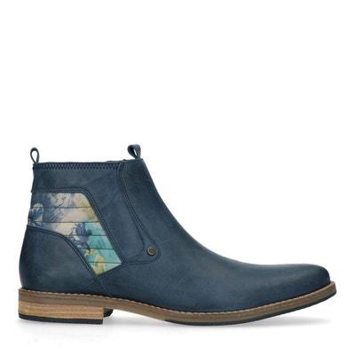 d16718658a7 Boots en cuir avec imprimé fleuri Boots en cuir avec imprimé fleuri SACHA