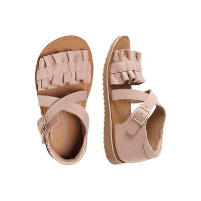a22751818cc20 Sandales en cuir fille collection maternelle Sandales en cuir fille  collection maternelle VERTBAUDET