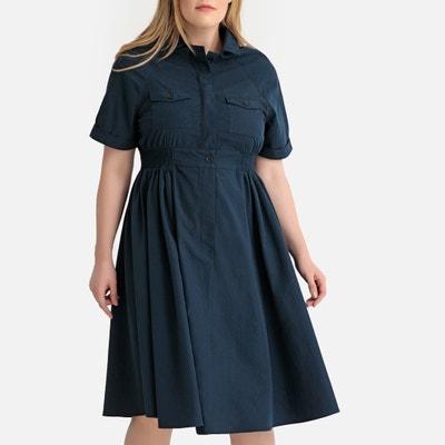 ce9e05617ffe Flared Elasticated Waist Shirt Dress Flared Elasticated Waist Shirt Dress  CASTALUNA PLUS SIZE