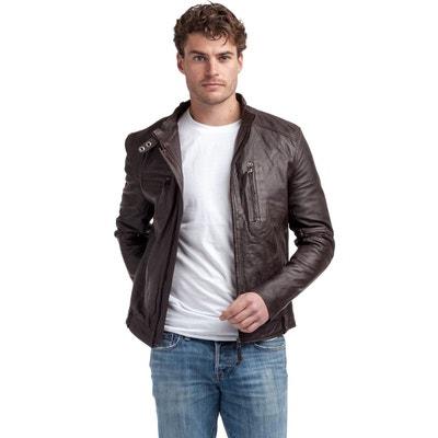8060717009180 Blouson, veste en cuir homme en solde | La Redoute