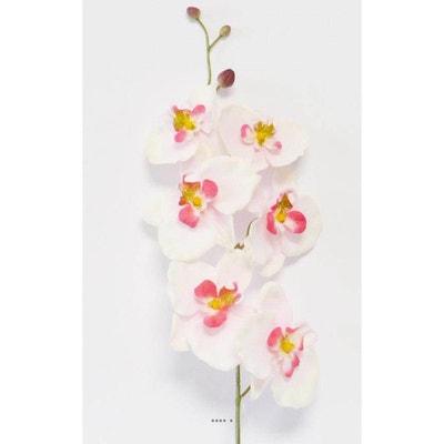 Les orchidées branche 60 cm Orange PM Artificielle Orchidée Orchidées Fleurs Art Fleurs