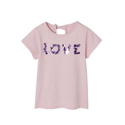 a14702f15a42e T-shirt fille à maxi sequins manches courtes VERTBAUDET