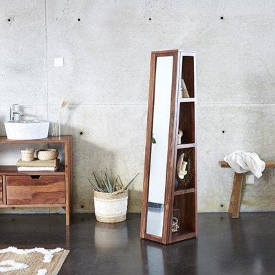 Colonne Miroir Oblique En Bois De Palissandre 30 Twig TIKAMOON