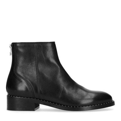 cda776ec6a4 Boots basse avec fermeture cote femme noires
