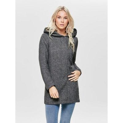 Manteau 3/4 femme gris chine