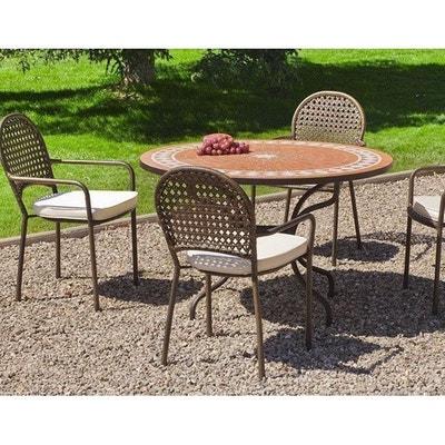 Table de jardin ronde avec rallonge | La Redoute