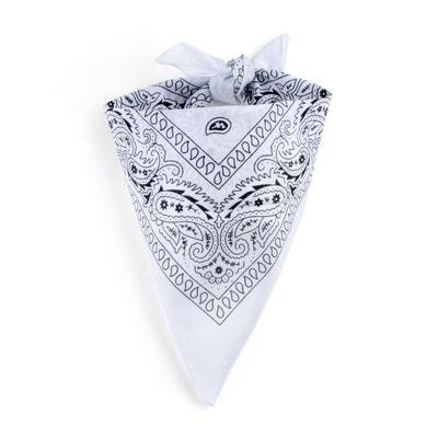 Foulard bandana blanc Foulard bandana blanc ALLEE DU FOULARD a1bac19b84d
