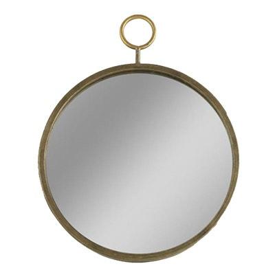 Miroir Rond Doré 40 Cm CBK