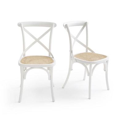 Chaise blanche et bois   La Redoute