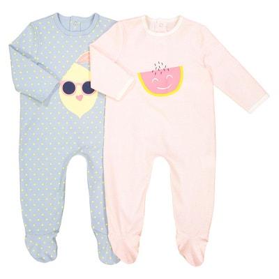 3b62bd5d0fdc9 Lot de 2 pyjamas en coton 0 mois – 3 ans Lot de 2 pyjamas en