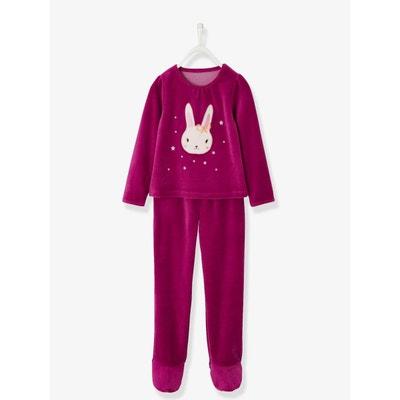 b34e14521e55b Pyjama velours fille avec pieds Pyjama velours fille avec pieds VERTBAUDET